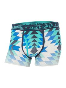 Jack & Jones 3 Pack Print and Plain Trunks