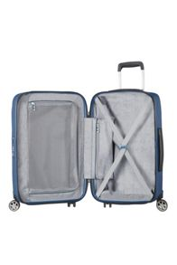 Samsonite Starfire blue 8 wheel 55cm cabin suitcase