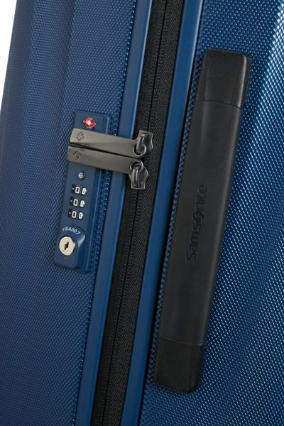 Samsonite Starfire blue 8 wheel 75cm large suitcase