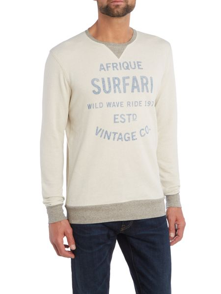 Jack & Jones Washed Marl Crew Neck Sweatshirt