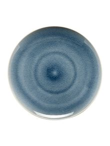 Linea Blue crackle dinner plate