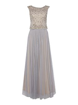 Lace and tulle gown two piece