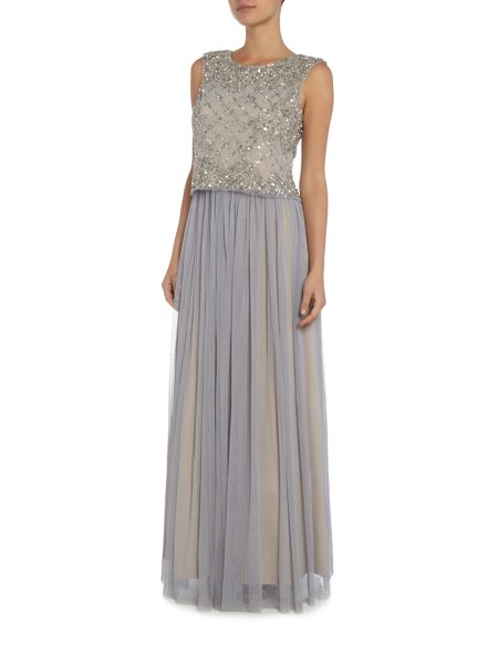 Adrianna Papell Lace and tulle gown two piece