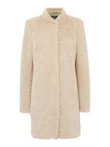 Kenneth Cole Faux Fur Coat