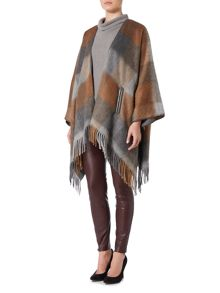 Hugo Boss Ofringy oversized fringed poncho