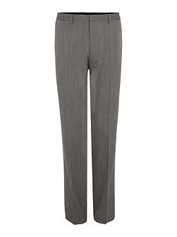 Giro3 Textured Trousers with Leather Trim Detail