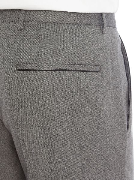 Hugo Boss Giro3 Textured Trousers with Leather Trim Detail