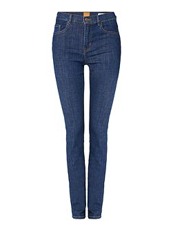 Orange J21 mid wash skinny jean
