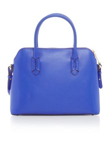 Lauren Ralph Lauren Tate blue dome satchel bag