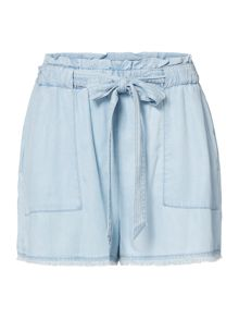Seafolly Fringed hem chambray beach short