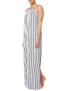 Seafolly Verticle stripe jersey maxi beach dress