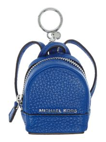 Michael Kors Rhea blue backpack charm keyring