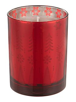 Winter berries candle