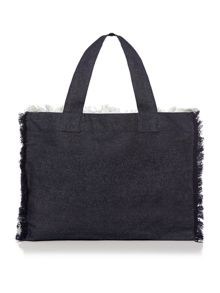 Seafolly Carried away free love beach tote bag