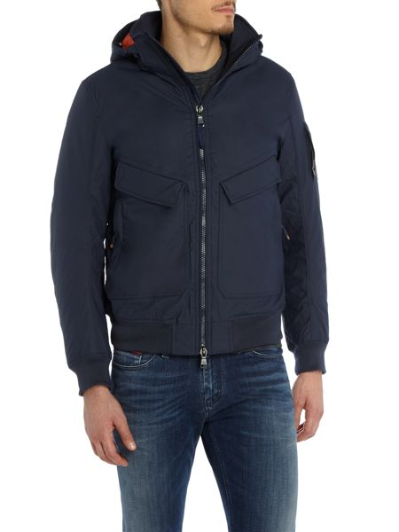 Duck and Cover Arctan padded bomber jacket