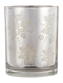 Linea White christmas candle