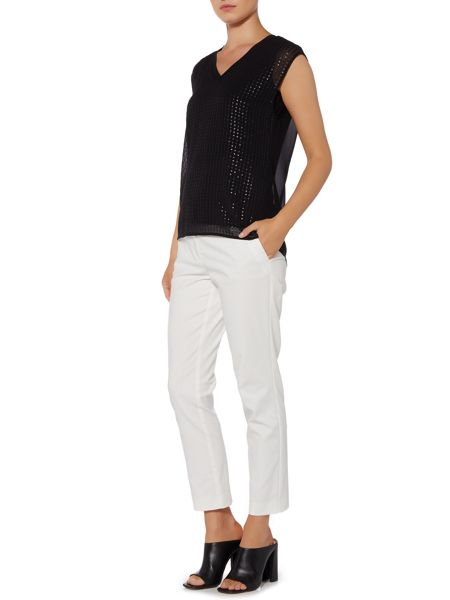 Episode Sleeveless v neck sequin blouse