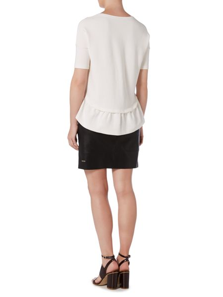 Hugo Boss Frill hem short sleeved top
