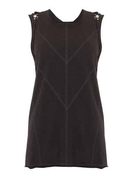 Label Lab Macrame charcoal vest