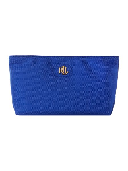 Lauren Ralph Lauren Bainbridge exclusive BLUE make up wristlet bag