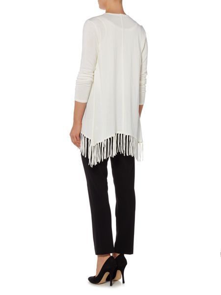 Episode Long sleeve knitted cardigan with fringing