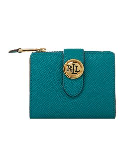 Charleston blue medium tab zip-around purse
