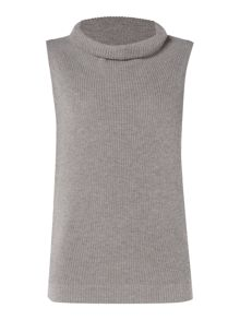 Hugo Boss Sleeveless roll neck knit