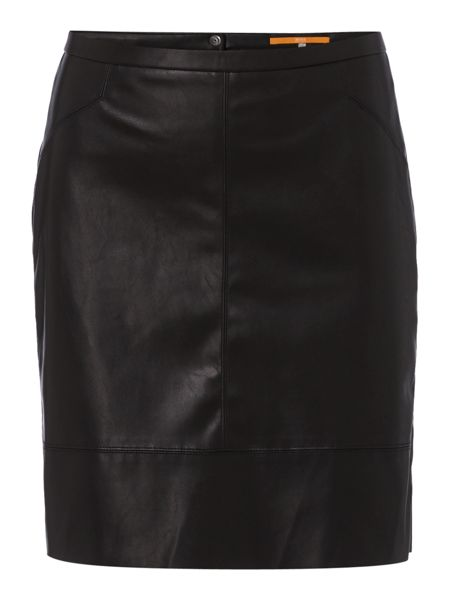 Hugo Boss Leather look skirt