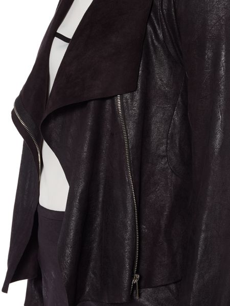 Episode Faux suede jacket with waterfall front