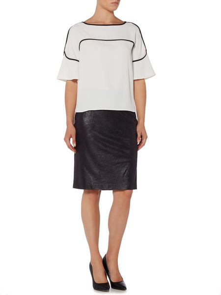 Episode Faux suede pencil skirt
