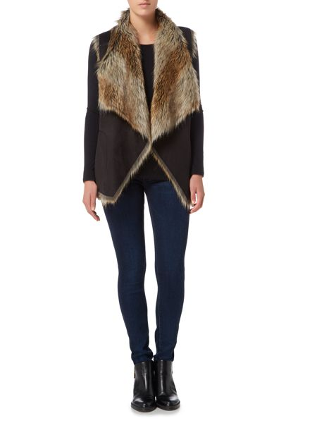 Andrew Marc Shearling Waterfall Gilet