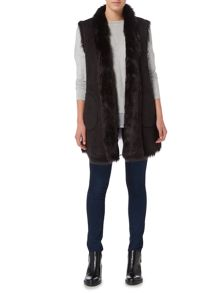 Andrew Marc Faux Shearling Gilet