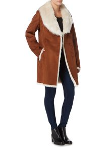 Andrew Marc Faux Shearling Coat