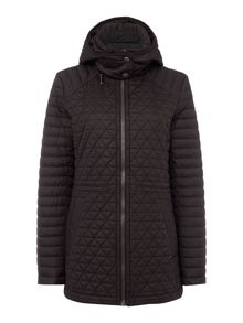 Andrew Marc Quilted Hooded Anorak