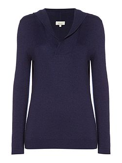 Oxford Cashmere Blend Hooded Top