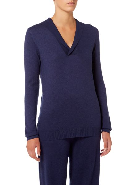 Linea Oxford Cashmere Blend Hooded Top