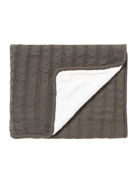 Linea Sherpa cable knit throw