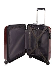 Delsey Axial elite burgandy 4 wheel hard cabin suitcase