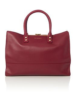 Daphne burgundy tote bag