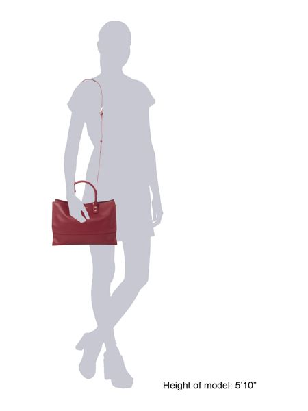 Lulu Guinness Daphne burgundy tote bag