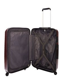 Delsey Axial elite burgundy 4 wheel hard medium suitcase