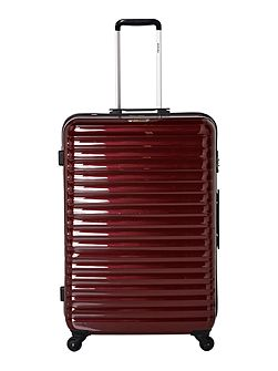 Axial elite burgundy 4 wheel hard large suitcase