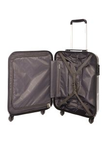 Delsey Axial elite silver 4 wheel hard cabin suitcase