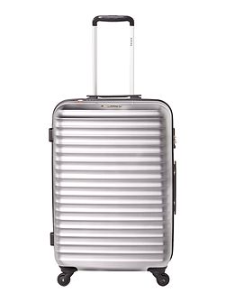 Axial elite silver 4 wheel hard medium suitcase