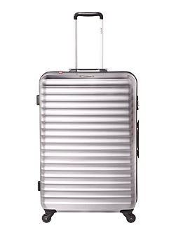 Axial elite silver 4 wheel hard large suitcase
