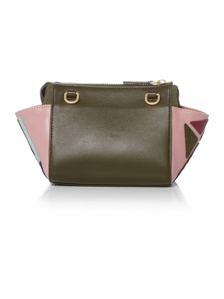 Lulu Guinness Milana green small pop out girl tote bag