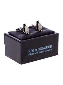 New & Lingwood Crystal Penguin Cufflink