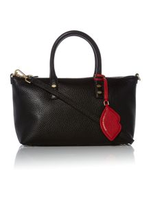 Lulu Guinness Frances Small Tote Bag with Lip Charm