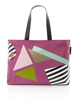 Larysa multi-coloured large tote bag