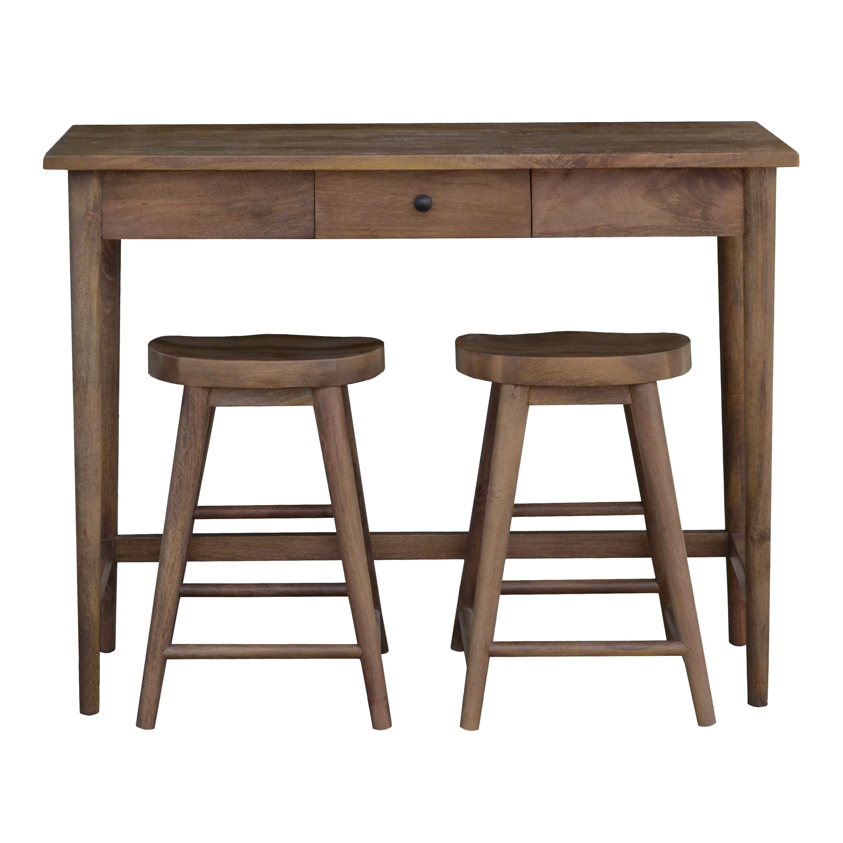 Linea oliver bar table 2 stools review for Bar stool table